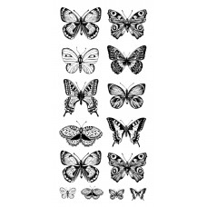 Kaisercraft Clear Stickers - Butterflies ST915 Very Large Stickers
